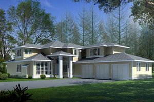 Mediterranean Exterior - Front Elevation Plan #100-418