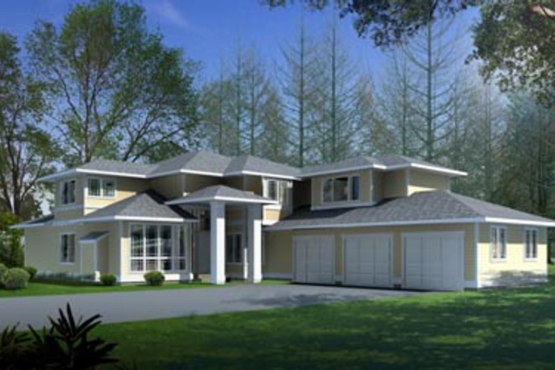 Mediterranean Style House Plan - 4 Beds 3 Baths 3408 Sq/Ft Plan #100-418 Exterior - Front Elevation