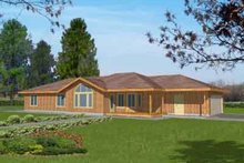 Home Plan - Traditional Exterior - Front Elevation Plan #117-300