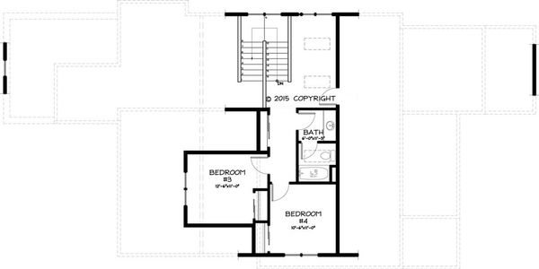 Craftsman Floor Plan - Upper Floor Plan Plan #895-44