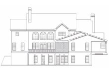 Dream House Plan - Traditional Exterior - Rear Elevation Plan #419-123