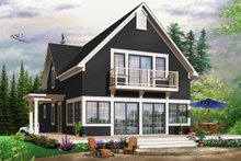 Home Plan - Traditional Exterior - Front Elevation Plan #23-825