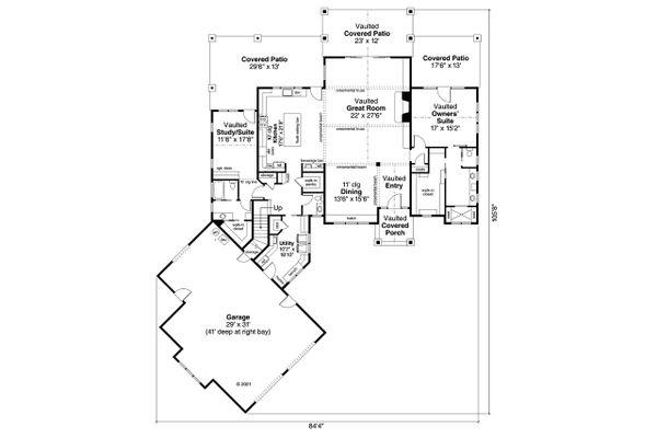 Dream House Plan - Craftsman Floor Plan - Main Floor Plan #124-1237