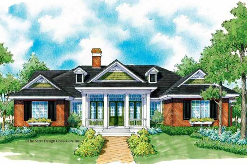 Architectural House Design - Country Exterior - Front Elevation Plan #930-246