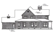 Farmhouse Style House Plan - 4 Beds 3.5 Baths 2992 Sq/Ft Plan #23-383 Exterior - Rear Elevation