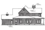 Farmhouse Style House Plan - 4 Beds 3.5 Baths 2992 Sq/Ft Plan #23-383 Exterior - Rear Elevation