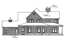 House Plan Design - Canadian country style house farm home