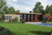 Modern Style House Plan - 3 Beds 2.5 Baths 2241 Sq/Ft Plan #48-477 Exterior - Rear Elevation