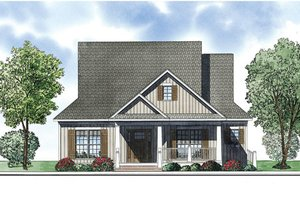 Bungalow Exterior - Front Elevation Plan #17-2410
