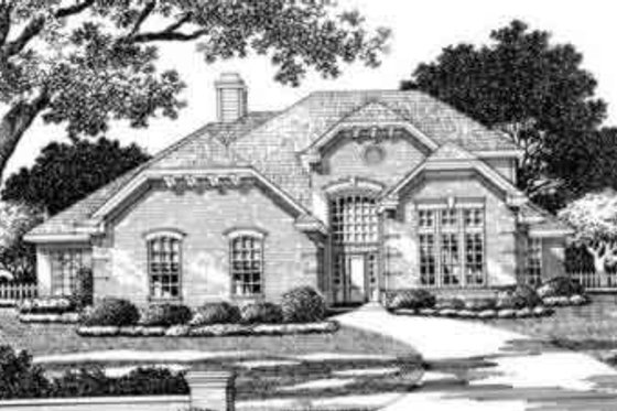 European Exterior - Front Elevation Plan #141-107