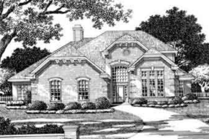 European Style House Plan - 3 Beds 2.5 Baths 2384 Sq/Ft Plan #141-107 Exterior - Front Elevation