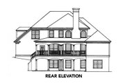 European Style House Plan - 4 Beds 3.5 Baths 2325 Sq/Ft Plan #429-31 Exterior - Rear Elevation
