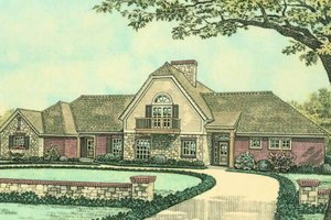 Country Exterior - Front Elevation Plan #310-617