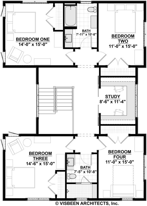 Farmhouse Floor Plan - Upper Floor Plan Plan #928-324