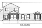 Traditional Style House Plan - 4 Beds 2.5 Baths 2652 Sq/Ft Plan #98-212 Exterior - Rear Elevation