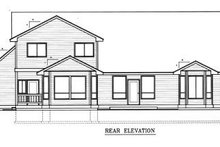 Home Plan - Traditional Exterior - Rear Elevation Plan #98-212