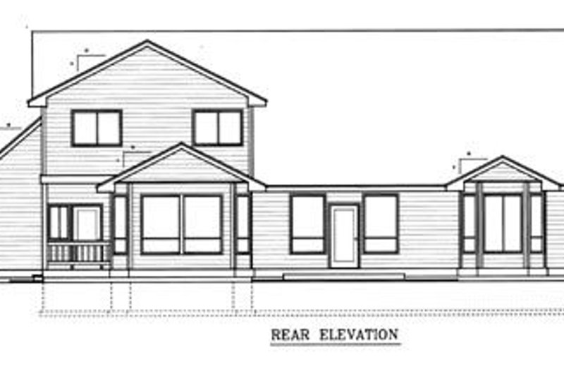 Traditional Exterior - Rear Elevation Plan #98-212 - Houseplans.com