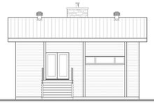 Home Plan - Contemporary Exterior - Front Elevation Plan #23-2632
