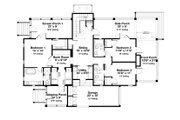 Beach Style House Plan - 4 Beds 4.5 Baths 2728 Sq/Ft Plan #443-13 Floor Plan - Main Floor Plan
