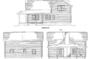 Log Style House Plan - 3 Beds 2.5 Baths 1684 Sq/Ft Plan #17-474 Exterior - Rear Elevation