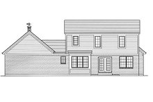 Home Plan Design - Country Exterior - Rear Elevation Plan #46-478