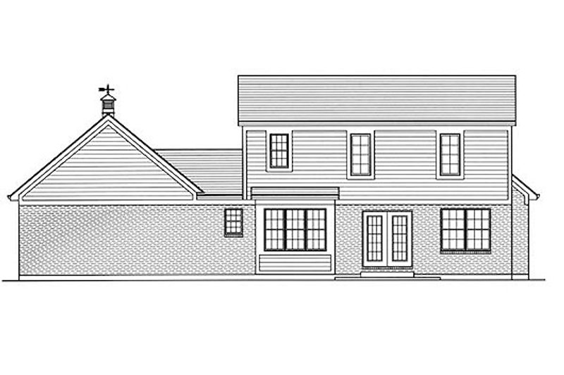 Country Exterior - Rear Elevation Plan #46-478 - Houseplans.com