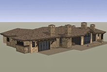Mediterranean Exterior - Rear Elevation Plan #892-31