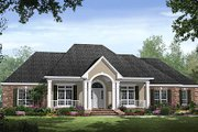 Traditional Style House Plan - 4 Beds 3.5 Baths 2750 Sq/Ft Plan #21-300 Exterior - Front Elevation