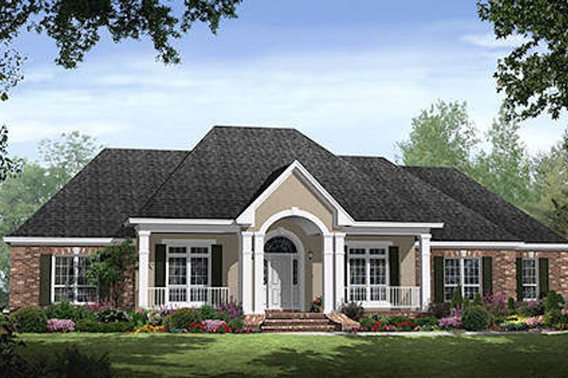 Traditional Exterior - Front Elevation Plan #21-300 - Houseplans.com
