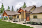 Craftsman Style House Plan - 3 Beds 2.5 Baths 2518 Sq/Ft Plan #124-988 Exterior - Front Elevation