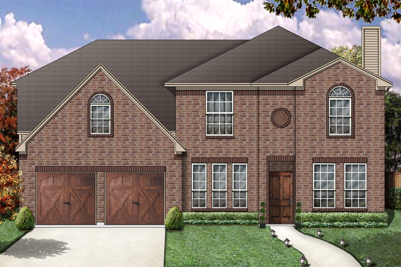 Dream House Plan - Traditional Exterior - Front Elevation Plan #84-373