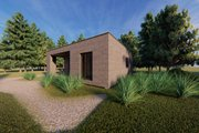 Modern Style House Plan - 2 Beds 1 Baths 545 Sq/Ft Plan #549-35 Exterior - Rear Elevation