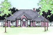 Traditional Style House Plan - 3 Beds 2.5 Baths 2456 Sq/Ft Plan #20-885 Exterior - Front Elevation
