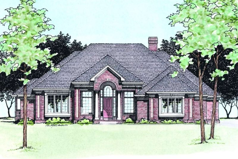 Dream House Plan - Traditional Exterior - Front Elevation Plan #20-885