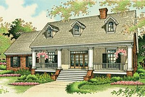 Architectural House Design - Southern Exterior - Front Elevation Plan #45-134