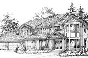 Craftsman Style House Plan - 3 Beds 3 Baths 3202 Sq/Ft Plan #78-217 Exterior - Front Elevation