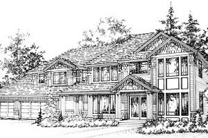 Craftsman Exterior - Front Elevation Plan #78-217