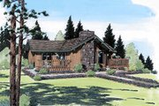 Contemporary Style House Plan - 2 Beds 2 Baths 1137 Sq/Ft Plan #312-425 Exterior - Front Elevation