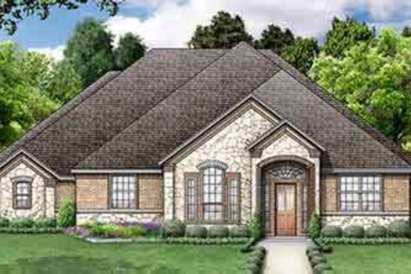 Dream House Plan - Traditional Exterior - Front Elevation Plan #84-183
