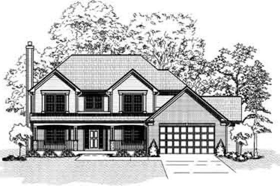 Traditional Exterior - Front Elevation Plan #9-101