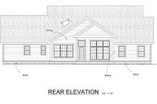 Cottage Exterior - Rear Elevation Plan #513-2059
