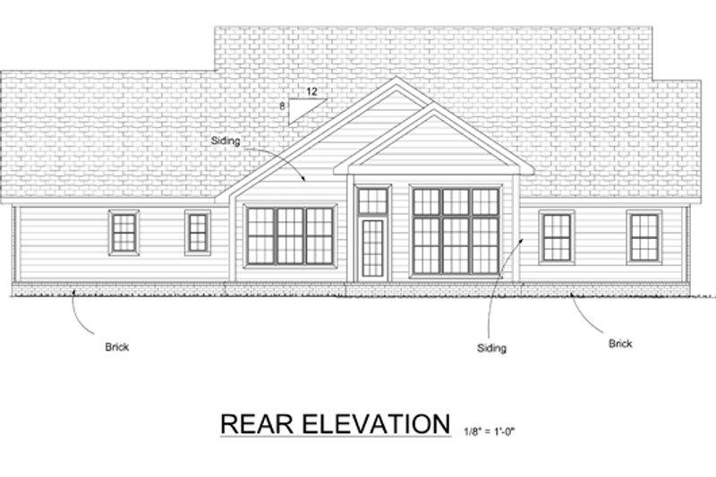 Cottage Exterior - Rear Elevation Plan #513-2059 - Houseplans.com