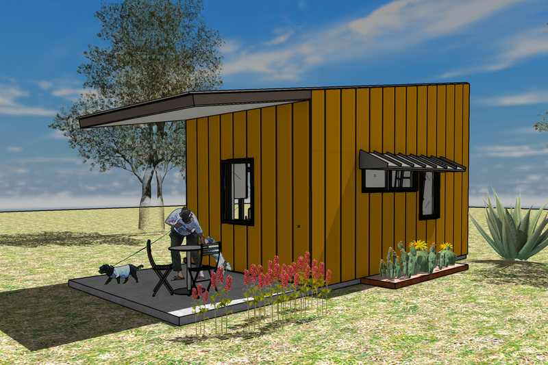 Modern Style House Plan - 1 Beds 1 Baths 267 Sq/Ft Plan #450-8
