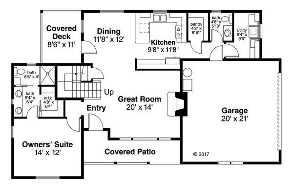 Country Floor Plan - Main Floor Plan Plan #124-1060