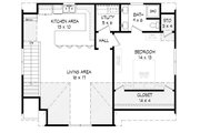 Country Style House Plan - 1 Beds 1 Baths 907 Sq/Ft Plan #932-16 Floor Plan - Upper Floor Plan