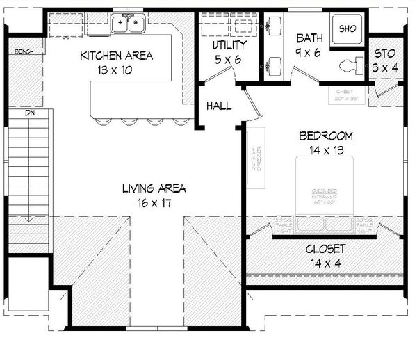Country Floor Plan - Upper Floor Plan Plan #932-16