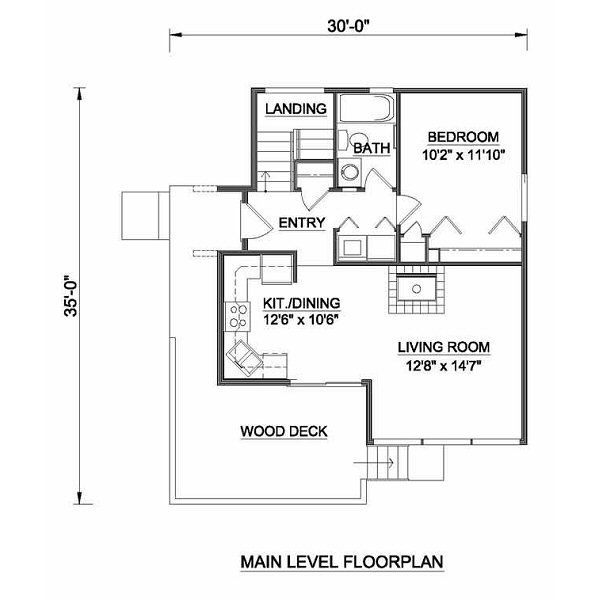 Contemporary Floor Plan - Main Floor Plan #116-109
