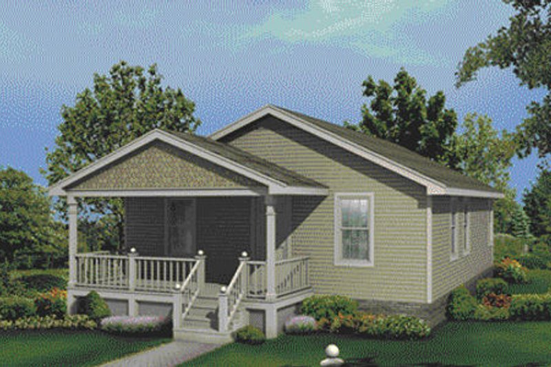 Cottage Exterior - Front Elevation Plan #57-120 - Houseplans.com