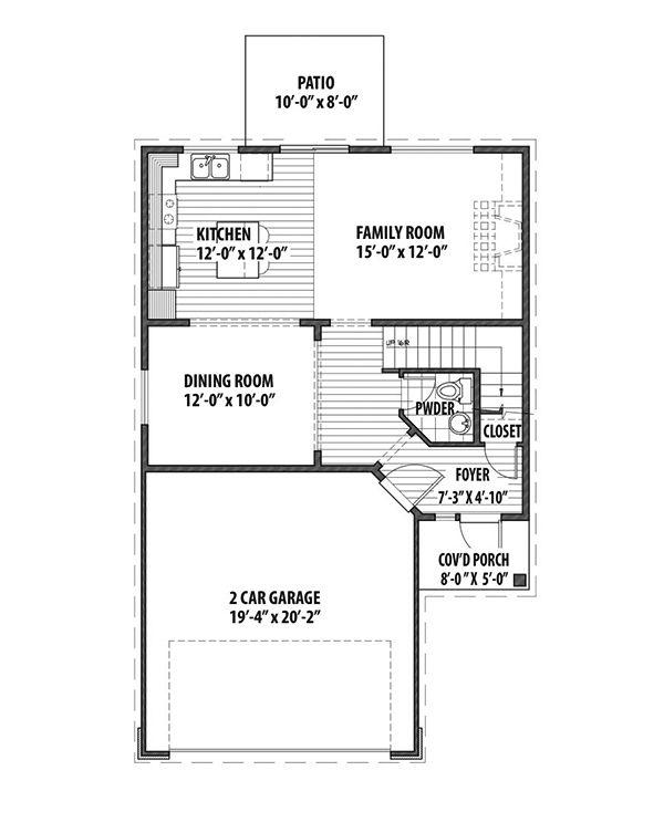 Country Floor Plan - Main Floor Plan #569-32