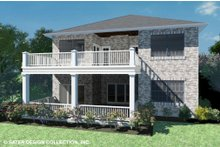 Country Exterior - Rear Elevation Plan #930-514
